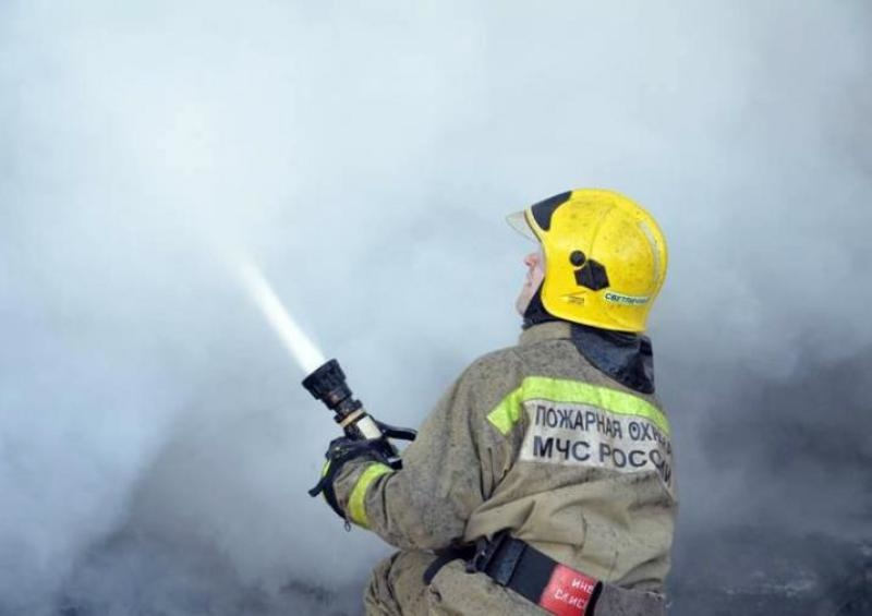 Пожар в Городовиковском районе