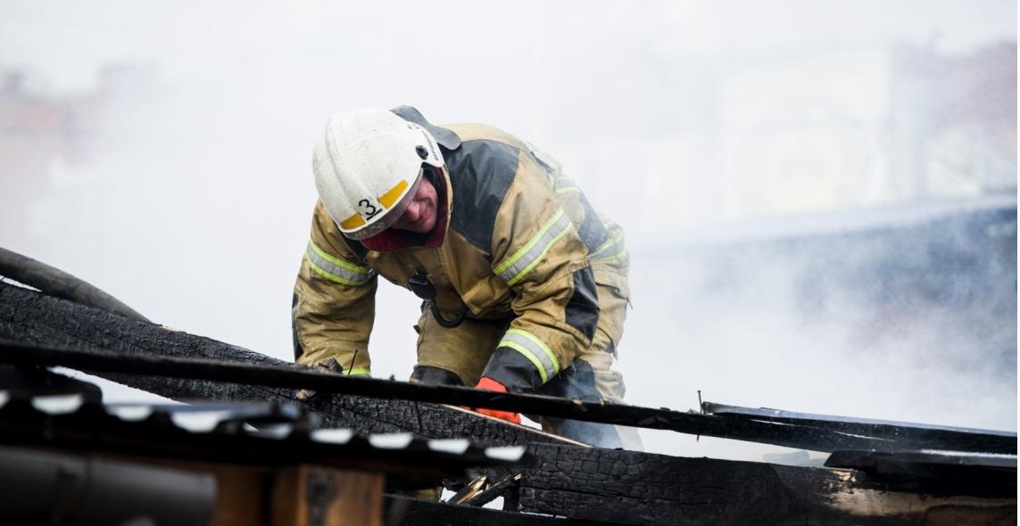 Пожар в Лаганском  районе — МЧС России по Республике Калмыкия