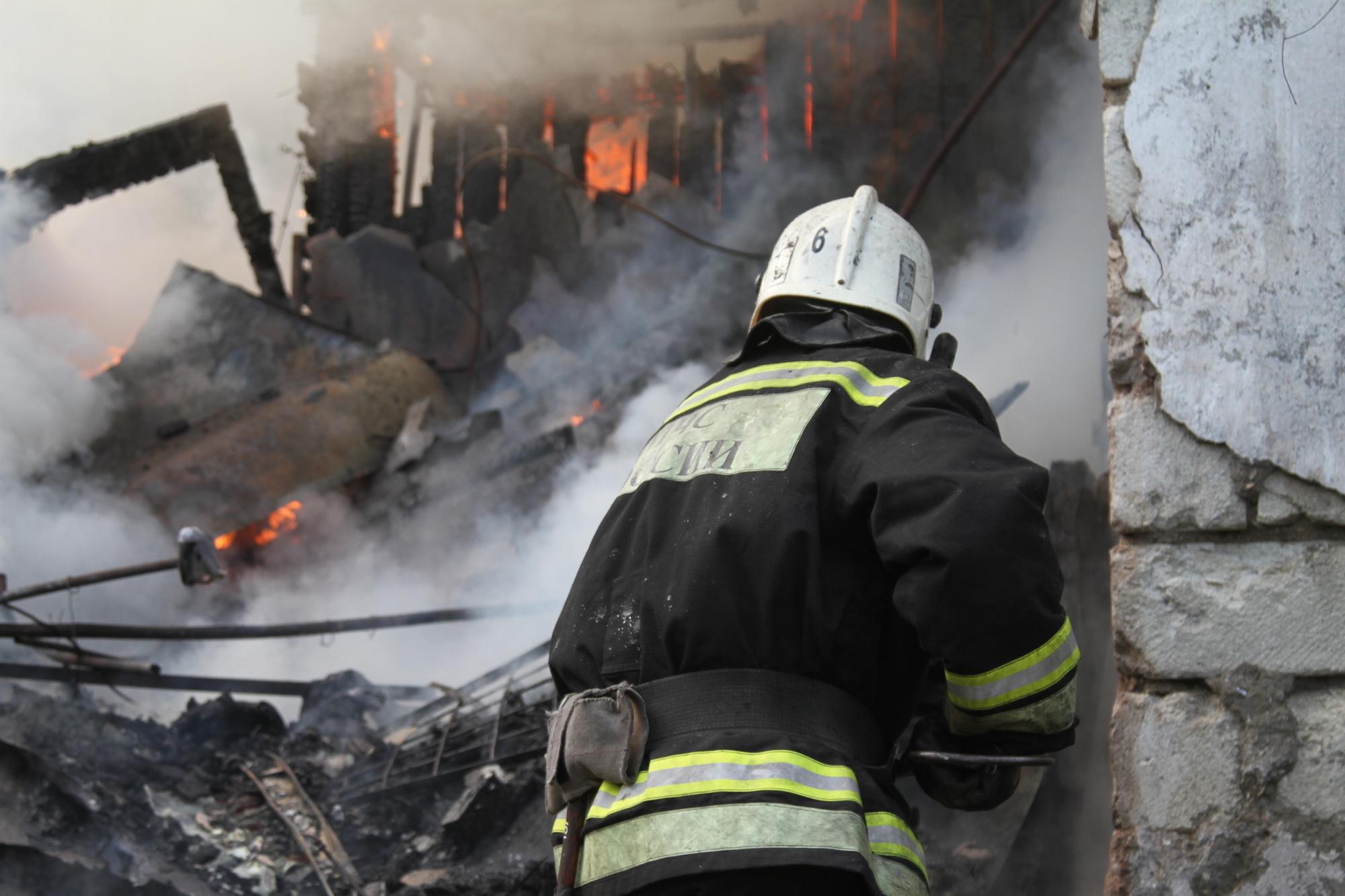 Пожар в Малодербетовском районе